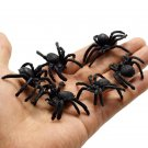 10pcs/set Halloween Kids Toys Simulation Spider Jokes Toys PVC Artificial Insect