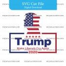 Trump 2020 SVG cut file digital instant make great america again