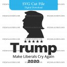 Trump 2020 SVG cut file digital instant make great america again