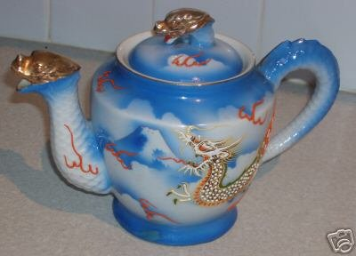 Vintage ACME Dragon Teapot ~ Mt. Fuji