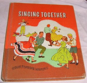 1959 Old School Book / singing Together / Nice Condition Free Shipping