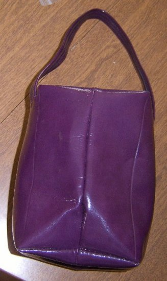 Collapsible Funky Square Purple Hand Bag Free Shipping