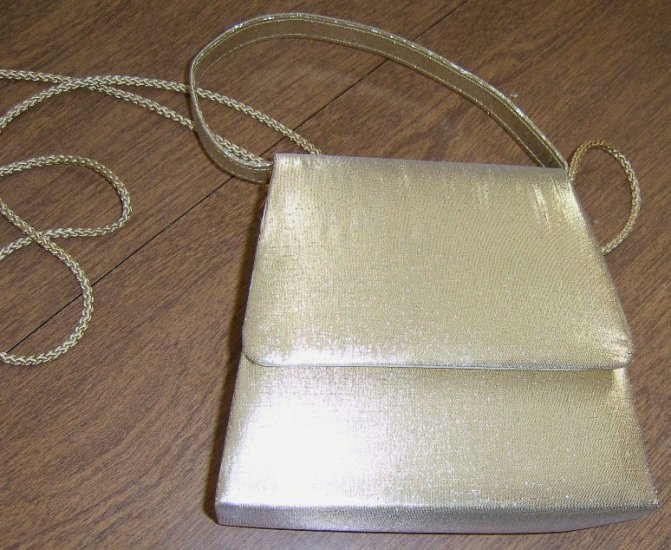 Sparkly Gold Handbag Purse for Formal Occasion Free Shipping