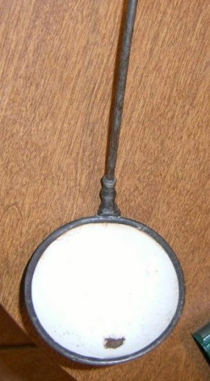 Free Shipping Victorian SP Ladle Lined w/ White Enamel Patented / Punch Ladle