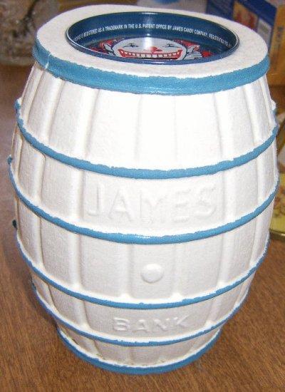 Free Shipping James Bank Atlantic City , NJ Salt Water Taffy Papier Mache Bank