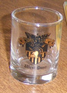 West Point Academy Shot Glass with Crest Free Shipping