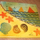 Hand Painted Seashore Tile Made in Italy Free Shipping