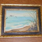"Framed Miniature Oil Painting on Board 5"" by 4"" Artist Signed Free Shipping"