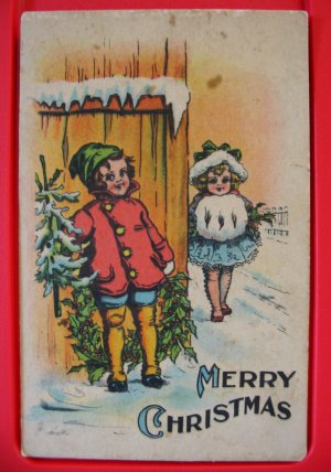 Early 1900's Samson Brothers Artist Signed Christmas Postcard Series CS 666