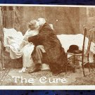 "Early 1900's Roth & Langley comic Sepia Photo Postcard Kissing Doctor ""The Cure"""