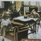 WW1 Photo Card Quiet Room Army Navy Head Quarters YMCA Strand London England