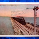 Vintage Color Postcard Lucin Cut-Off across Salt Lake So. Pacific RR Ogden, Utah