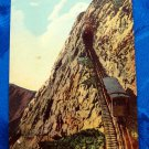 Vintage Color Postcard Train Car Climbing Mt. Pilatus Switzerland