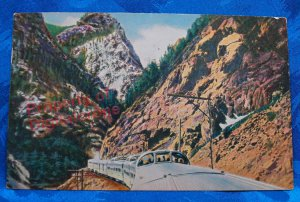 1951 Color Postcard California Zephyr Postmarked Grand Junction Colorado