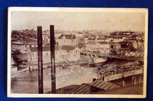 1910 Birds Eye View RPPC Snohomish Washington