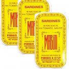 3 Cans- Mabuti Portuguese Sardines in Tomato Sauce 2.58 oz