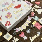 My Sweet Love Foil Gold Paper Die Cut Stickers for DIY Scrapbooking 70pcs