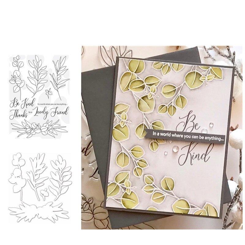 Be Kind Flower Metal Cutting Dies and Stamps Craft Dies Scrapbooking Card Making