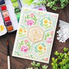 Greetings Flower Metal Cutting Dies and Stamps Stencils for DIY Scrapbooking Decorative Embossing