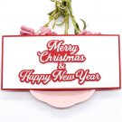 Merry Christmas and Happy New Year Slimline Cutting Dies Stencils for DIY Scrapbooking