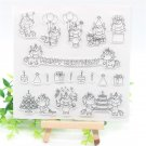 Unicorn Party Transparent Clear Silicone Stamps for DIY Scrapbooking Card Making Kids