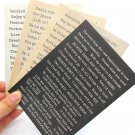 Words Stickers for Scrapbooking DIY Projects Photo Album Card Making 4pcs