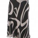 Jones New York NEW Black White Silk Skirt SZ 4 $119