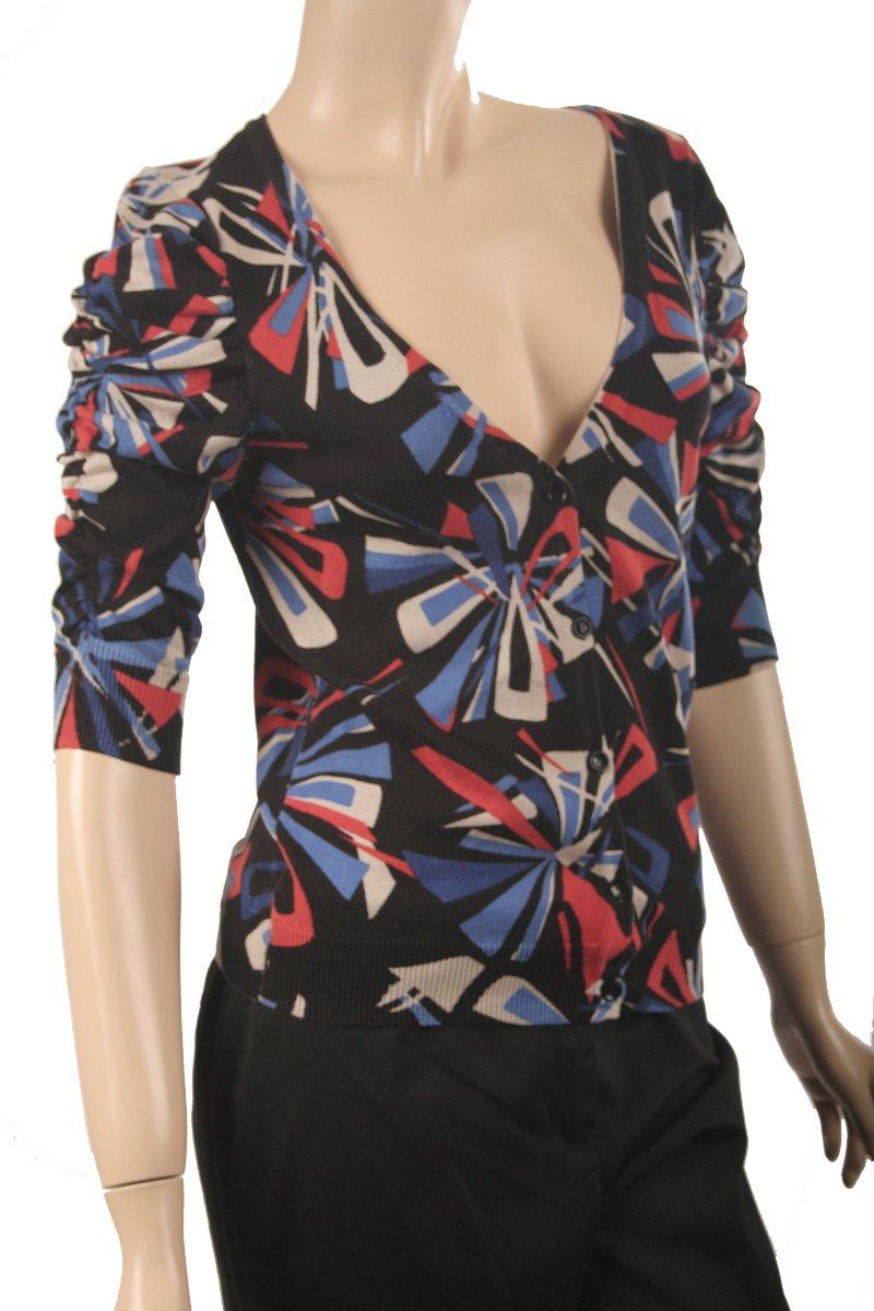 Nine West NEW Multi Black Cardigan Sweater SZ XS $89