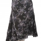 Studio M NEW Multi Black Floral Skirt Size 10 $79