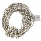 Chicos Silver Multi Beaded Braclet