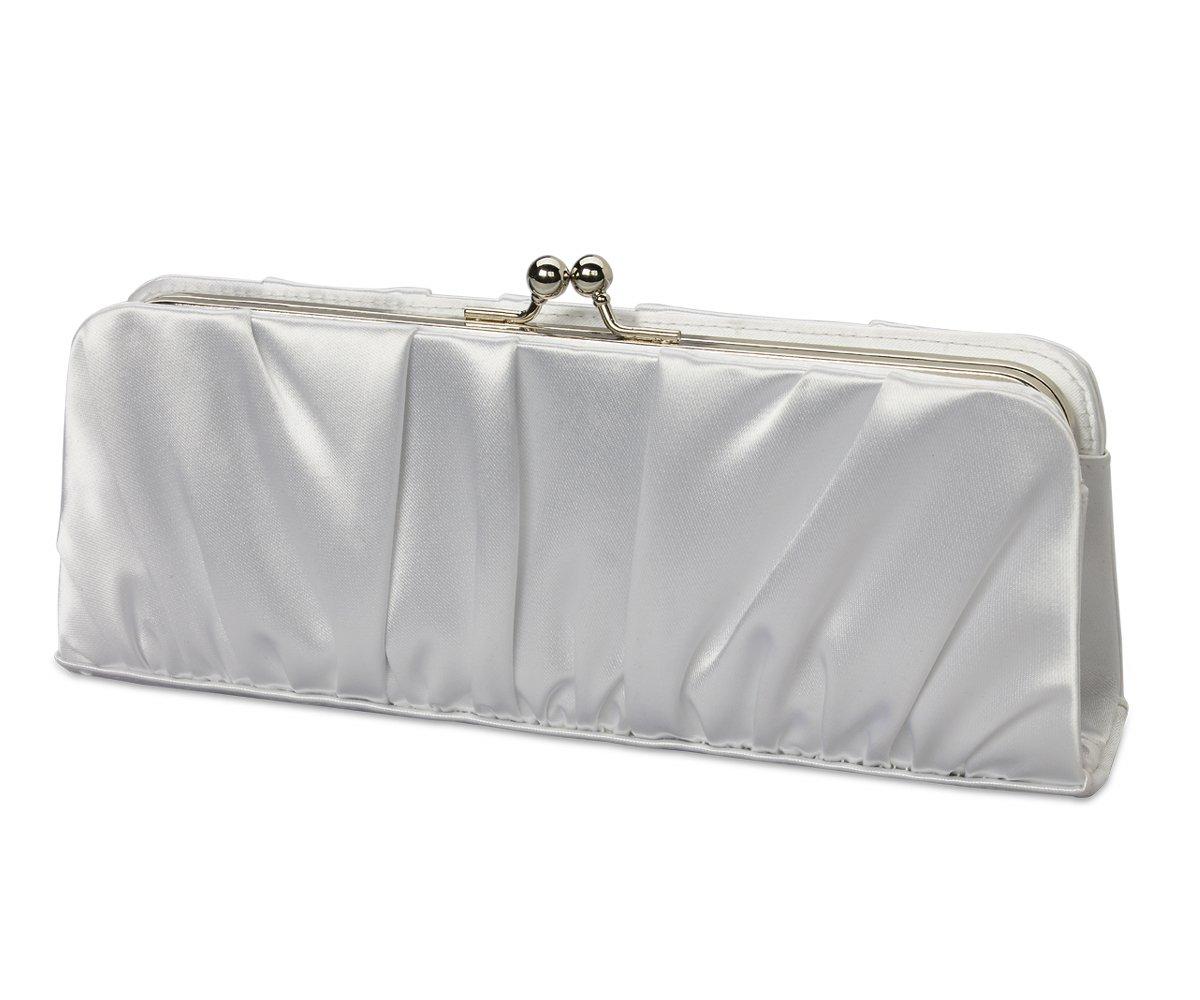 White Satin Shoulder Chain Bridal Evening Handbag