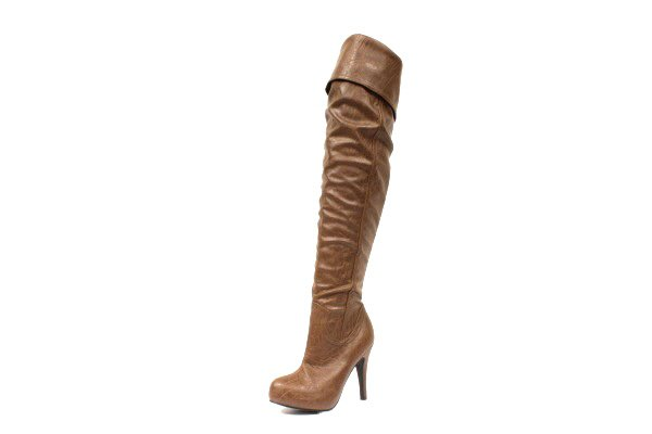 NEW Brown Over the Knee Platform Womens Boots Shoes