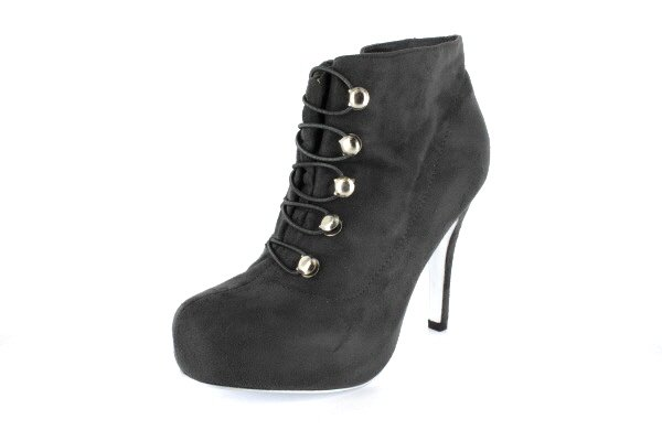NEW Gray Suede Platform Ankle Womens Boots Shoes