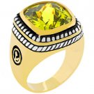 NEW 14k Gold White Gold  Peridot CZ  Ring