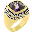 NEW 14k Gold White Gold  Amethyst CZ  Ring