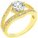 NEW 14k Gold  Anniversary Style Ring 2 Carat CZ Ring