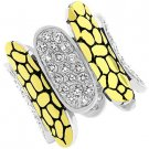 NEW 14K Gold Silver Black Antique Clear CZ  Ring