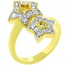 NEW 14K Gold Cubic Zirconia 2 Star Ring