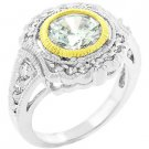 NEW 14K Gold Silver Large Oval Cut CZ Ring