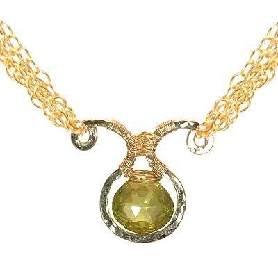 NEW 925 Sterling Silver Lemon Quartz Necklace Pendant