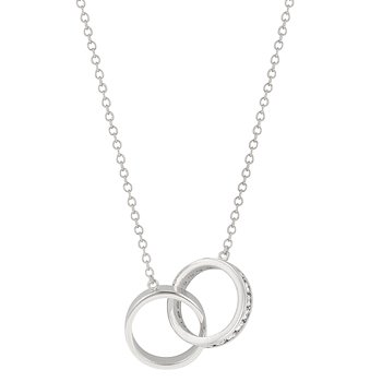 NEW White Gold Silver Eternal Love Necklace Pendant