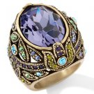 Heidi Daus Delight in Tanzanite Crystal Ring Size 5
