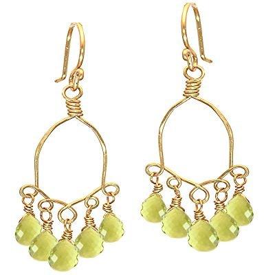 Calico Juno 14k Gold Lemon Quartzr Earrings