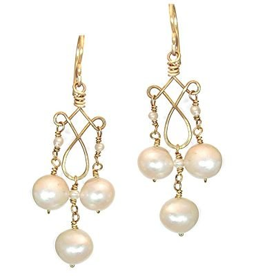 Calico Juno 925 Sterling Silver Pearls Dangle Earrings