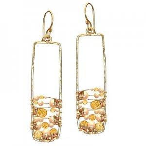Calico Juno 925 Sterling Silver Pearls Citrine Earrings