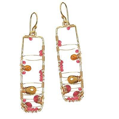 Calico Juno 14k Gold Multi Stone Earrings