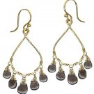 Calico Juno 14k Gold Rhodocrosite Drop Earrings