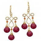 Calico Juno14k Gold Ruby Dangle Earrings