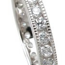 New 925 Sterling Silver CZ Eternity Antique Ring