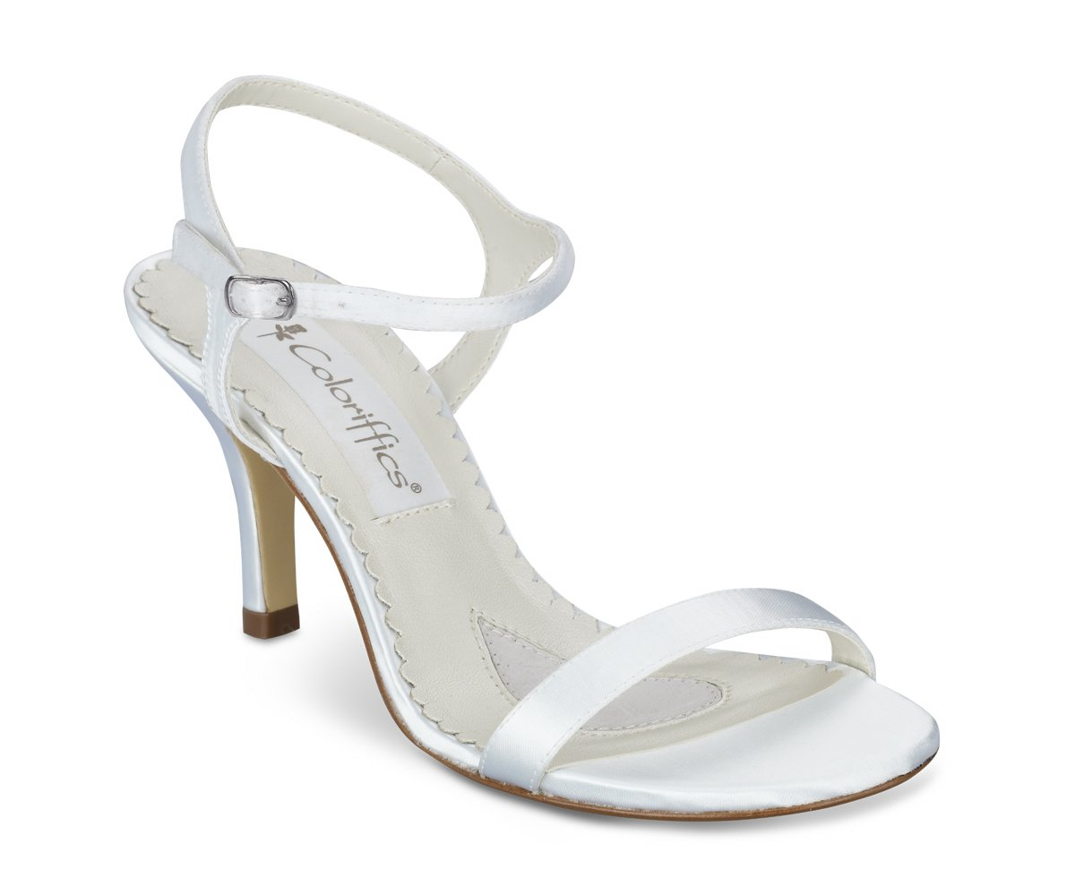 White Satin Dyeable Bridesmaid High Heel Shoes